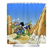 Dragon Ball Z Shower Curtain