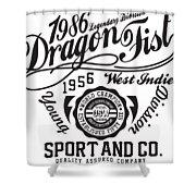 Dragon Fist 1986 Shower Curtain