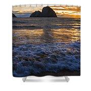Dramatic Sunset Oregon Coast Usa Shower Curtain