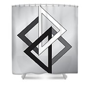 Drawn2shapes1bnw Shower Curtain