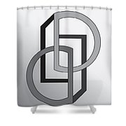 Drawn2shapes5 Shower Curtain