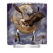 Dream Catcher - Spirit Eagle 2 Shower Curtain