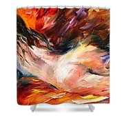 Dreams - Palette Knife Oil Painting On Canvas By Leonid Afremov Shower Curtain