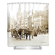 Dresden, Altmarkt Square, Germany, 1903 Shower Curtain
