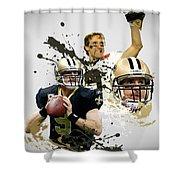 Drew Brees Saints Shower Curtain