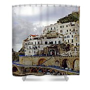 Driving The Amalfi Coast In Italy Shower Curtain