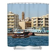 Dubai Creek And Abra Boats Shower Curtain