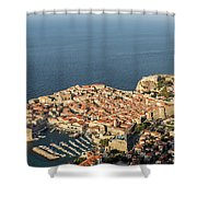 Dubrovnik And The Adriatic Coast In Croatia Shower Curtain