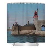 Dun Laoghaire Lighthouse Shower Curtain