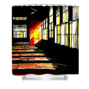 Dusk At The Factory Shower Curtain
