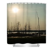 Dusk In The Wetlands Shower Curtain