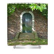 Dutch Door Digital Shower Curtain