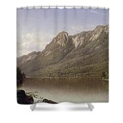 Eagle Cliff At Franconia Notch In New Hampshire Shower Curtain by David Johnson