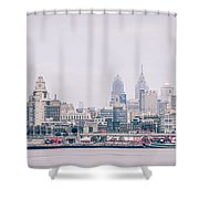 Early Morning Sunrise Over Philadelphia Pennsylvania Shower Curtain