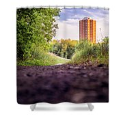 East Bank Trail Shower Curtain