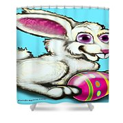 Easter Bunny Shower Curtain