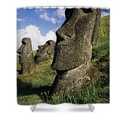 Easter Island Moai Shower Curtain