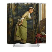 Eavesdropping Shower Curtain