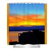 Edgewater Sunset Shower Curtain