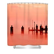 Eery Morn' Shower Curtain