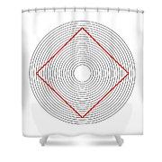 Ehrenstein Illusion Shower Curtain