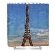 Eiffel Tower In France Shower Curtain