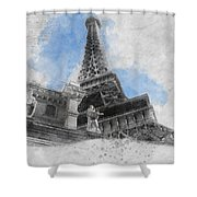 Eiffel Tower Of Paris Shower Curtain