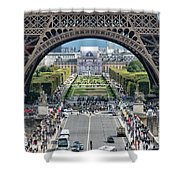 Eiffel Tower Paris Shower Curtain