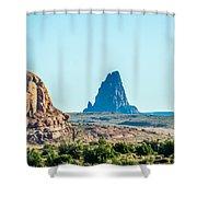 El Capitan Peak Just North Of Kayenta Arizona In Monument Valley Shower Curtain