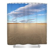 El Mirage Dry Lake Mojave  Shower Curtain