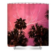 Electrified Palms Shower Curtain