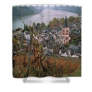 Elevated View Of Bacharach Shower Curtain