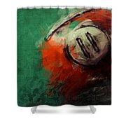 Eleven Ball Billiards Abstract Shower Curtain