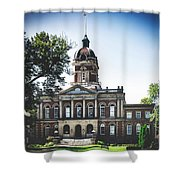 Elkhart County Courthouse - Goshen, Indiana Shower Curtain