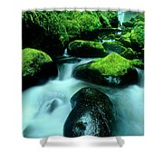 Elowah Falls Columbia River Gorge National Scenic Area Oregon Shower Curtain