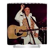 Elvis In Concert Shower Curtain
