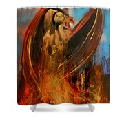 Embrace Of The Phoienix Shower Curtain