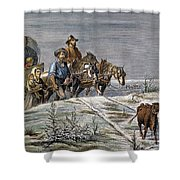 Emigrants, 1874 Shower Curtain by Granger