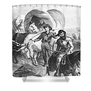 Emigrants To West, 1874 Shower Curtain