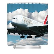 Emirates A380 Shower Curtain