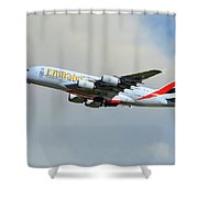 Emirates Airbus A380-861 Shower Curtain