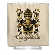 Emperor Of Germany Coat Of Arms - Livro Do Armeiro-mor Shower Curtain by Serge Averbukh