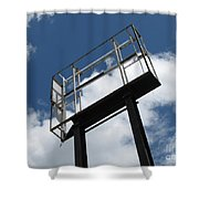 Empty Sign Frame Shower Curtain