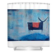 Enamorado De La Luna Shower Curtain