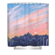 enchanced Catching the Sunset  Shower Curtain