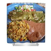 Enchilada Entree'  Shower Curtain