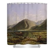 End Of Lake Geneva Shower Curtain