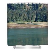 Endicott Glacier Area  Shower Curtain