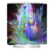 Formation Of Woman Shower Curtain