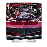 Engine Compartment Of Chromed Camaro Shower Curtain